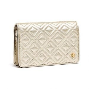 Tory Burch Fleming Metallic Slim Medium Nahkalompakko